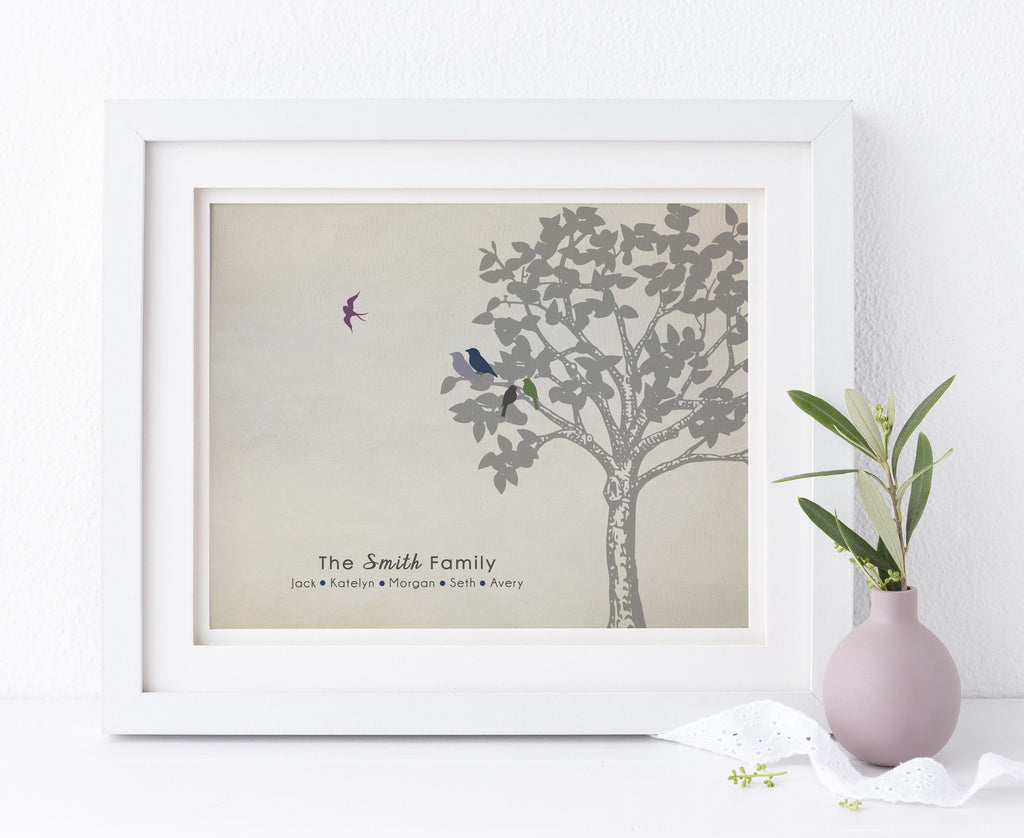 Family Tree Print, Infant Loss Keepsake, Baby Memorial Gift Print Print A Beautiful Remembrance Printed by our lab & shipped to you 5x7
