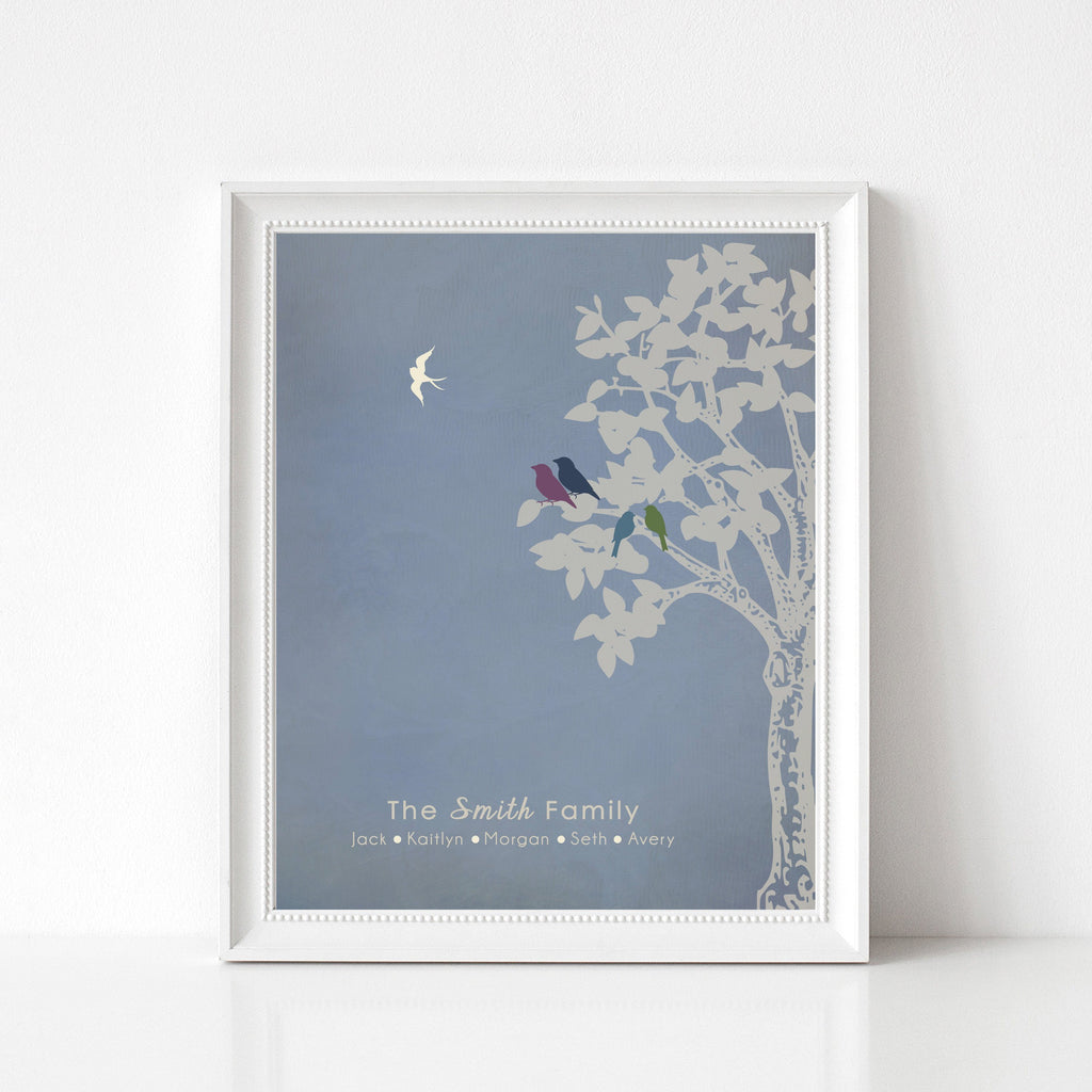 Family Tree Print, Infant Loss Keepsake, Baby Memorial Gift Print Print A Beautiful Remembrance Printed by our lab & shipped to you - Frame Not Included 5x7