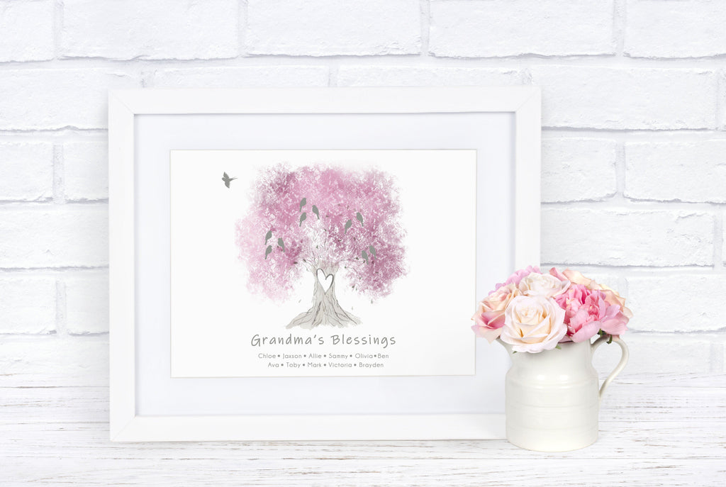 Grandparent Family Tree Print, Infant Loss Keepsake, Baby Memorial Gift Print Print A Beautiful Remembrance Printed by our lab & shipped to you - Frame Not Included 5x7