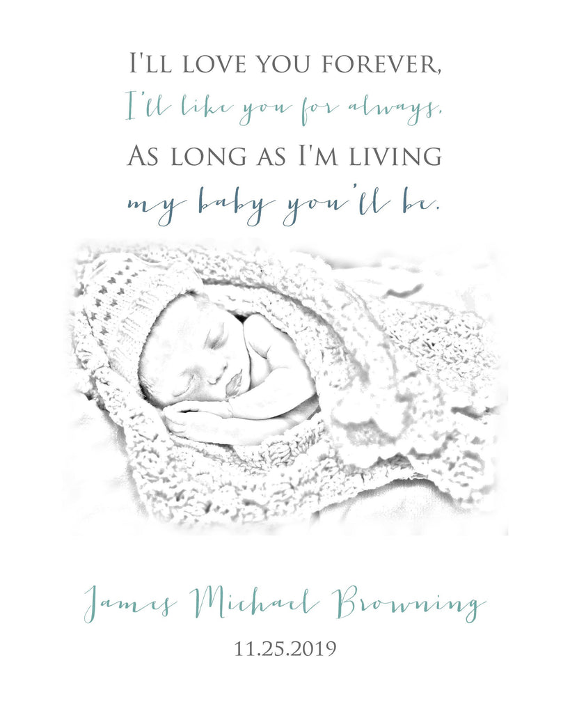 Photo to Sketch Custom Order Print A Beautiful Remembrance
