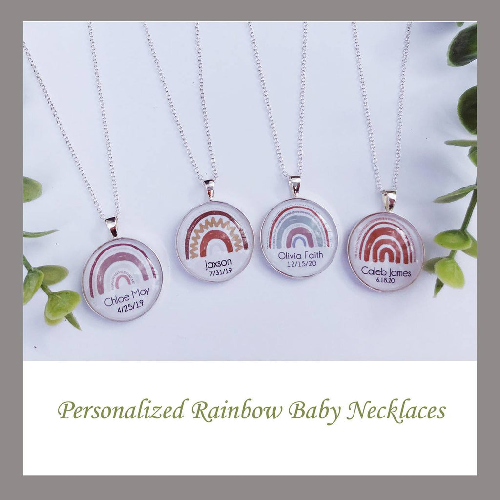 Rainbow Baby Personalized Necklace Jewelry A Beautiful Remembrance