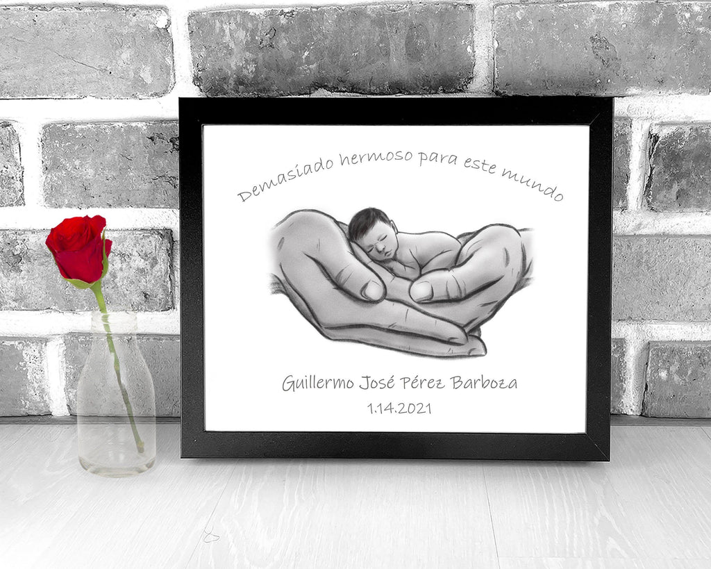 Spanish Text - Demasiado hermoso para este mundo Print A Beautiful Remembrance
