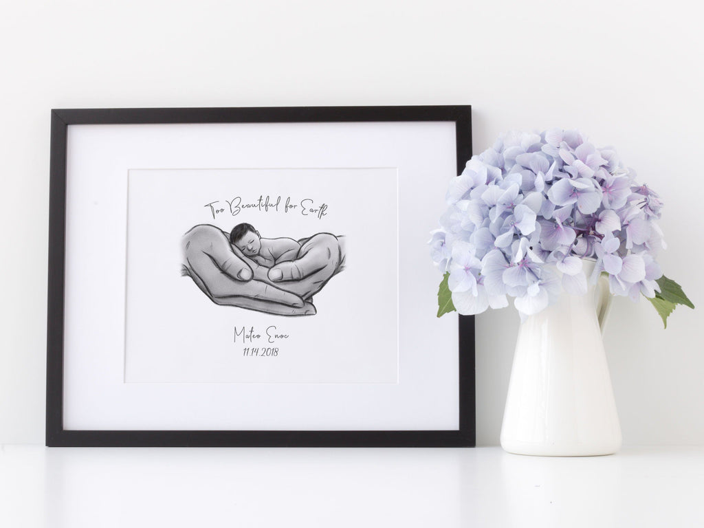 Too Beautiful for Earth - Hispanic Baby Print A Beautiful Remembrance Printed by our lab & shipped to you 5x7