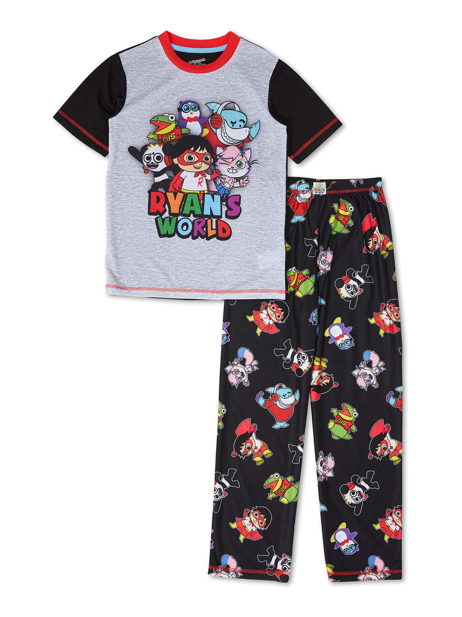 Ryan's World Boys' Pajama 2-Piece Set, Short Sleeve Fleece, Sizes 4-8