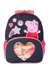 Peppa Pig Backpack Rainbow Hearts Peppa 16 inch