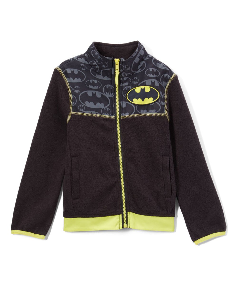 Batman Boys' Jacket Kids Winter Coat, 4-7, Black