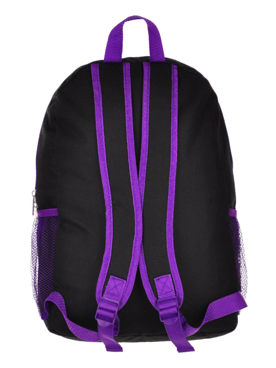 "Disney Descendants 3 Girls Backpack 16"" W Detachable Lunch Bag Mal Evie Uma"