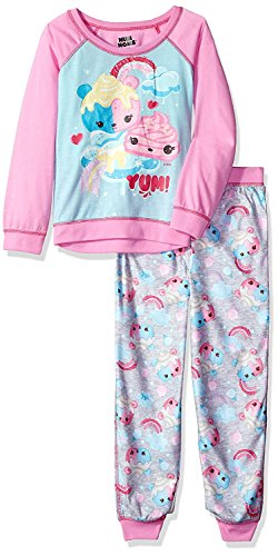 Komar Kids Num Noms Girls Scented Pajamas, Pink, Sizes XS & S
