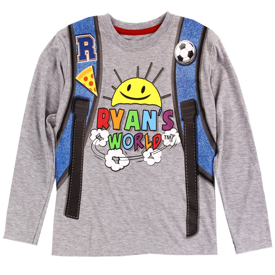 Ryan's World Boys Long Sleeve T-Shirt For Kids, Sizes 4-7