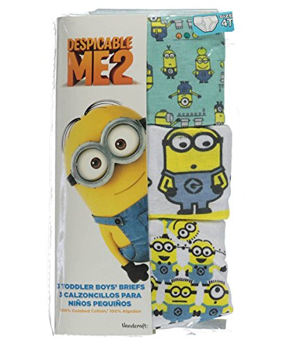 "Despicable Me 2 Toddler Boys' ""Minion Stack"" 3-Pack Underwear Briefs, Size 4T"