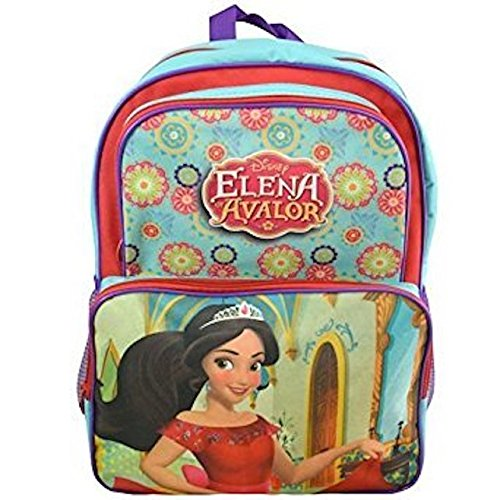 "Disney Elena of Avalor 16"" Kids Backpack - Elena Diary w/ Lock & BONUS Elena Bracelet Trio Set - Multi Value Bundle"