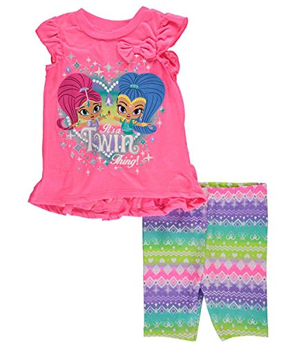 "Shimmer and Shine Little Girls' Toddler ""It's a Twin Thing"" 2-Piece Top and Legging Outfit"