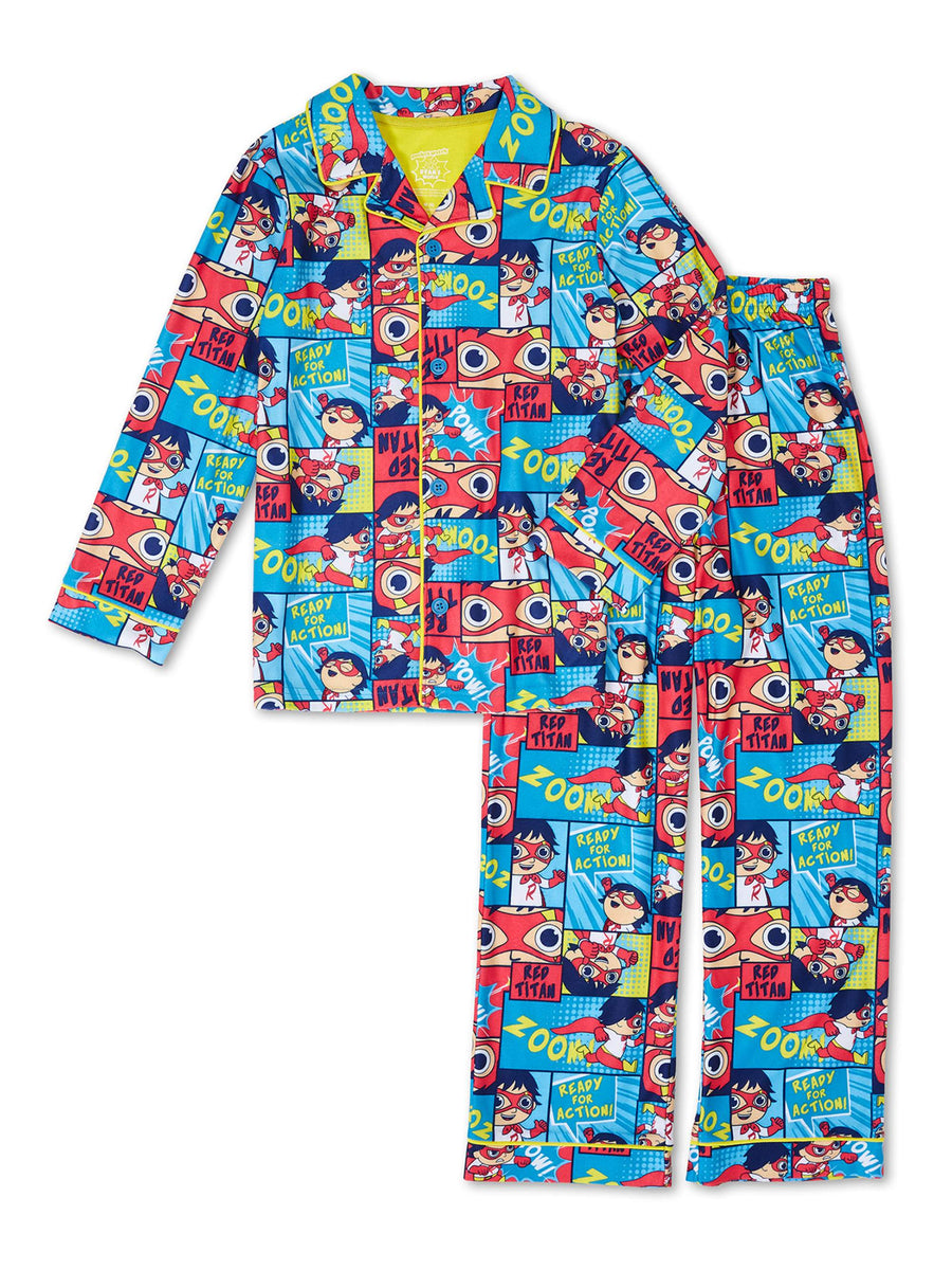 Ryan's World Boys' Pajama 2-Piece Coat Set, Sizes 4-12