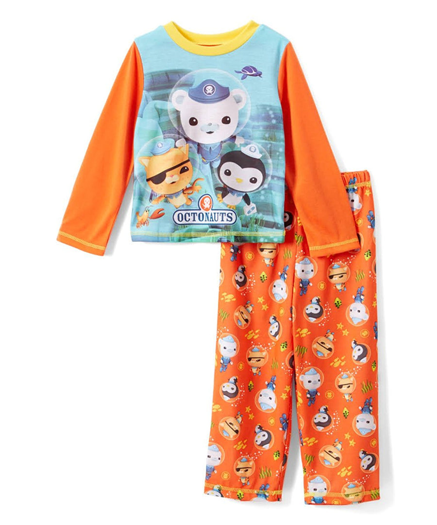 Komar Kids Octonauts Toddler Boys' Pajamas Size 2T, Orange