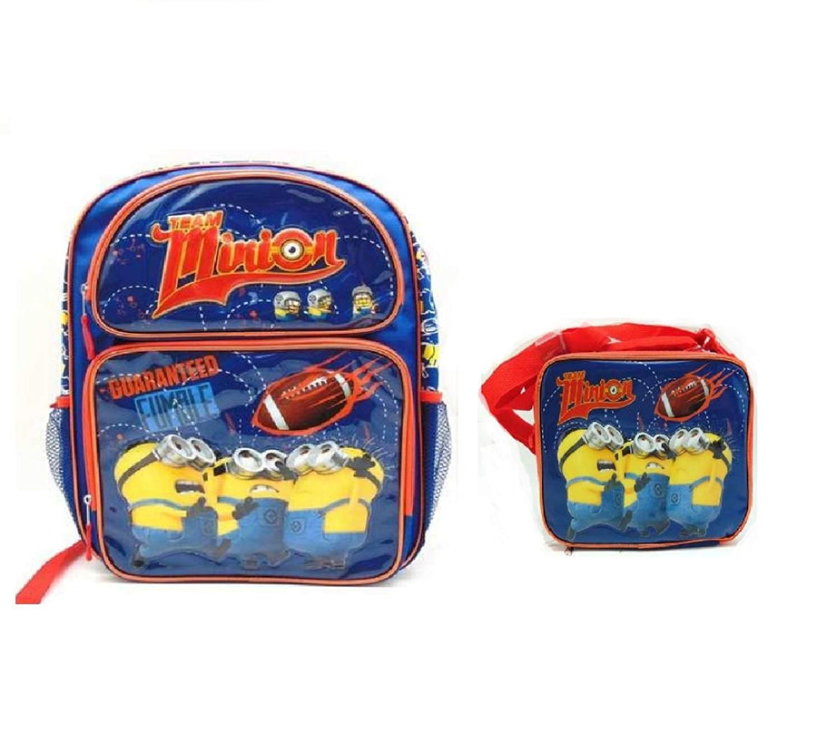 "Despicable Me Minions Team 16"" BACKPACK With LUNCH BAG SET"