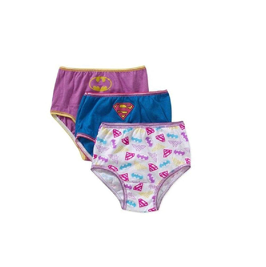 Handcraft Little Girls' Justice League Supergirl Panties Underwear 3-Pack, Sizes 4, 6, & 8