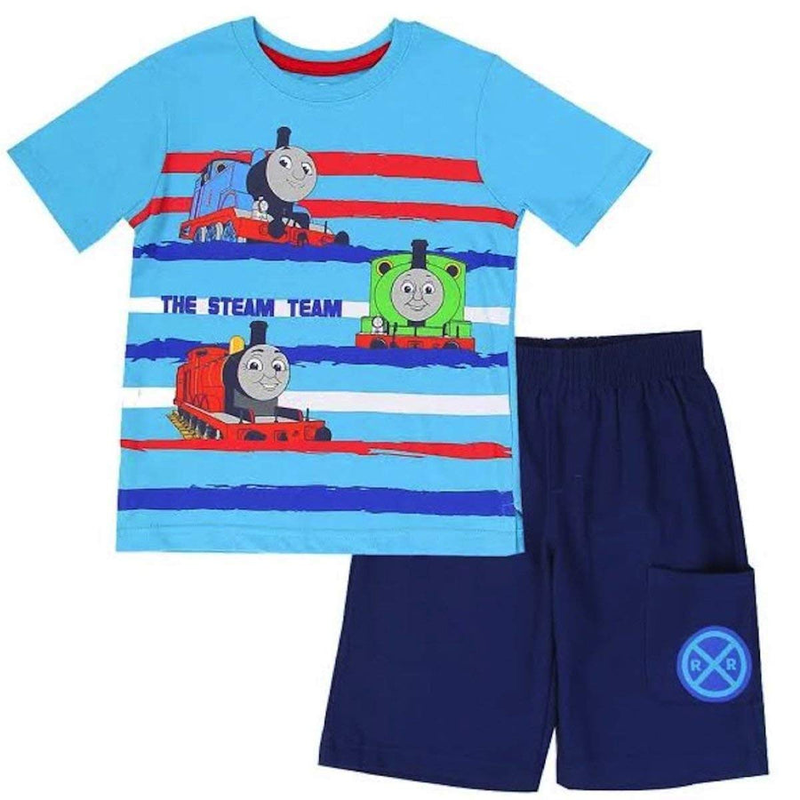 "Thomas & Friends Toddler Boys ""The Steam Team"" Tee & Short Set, Blue"