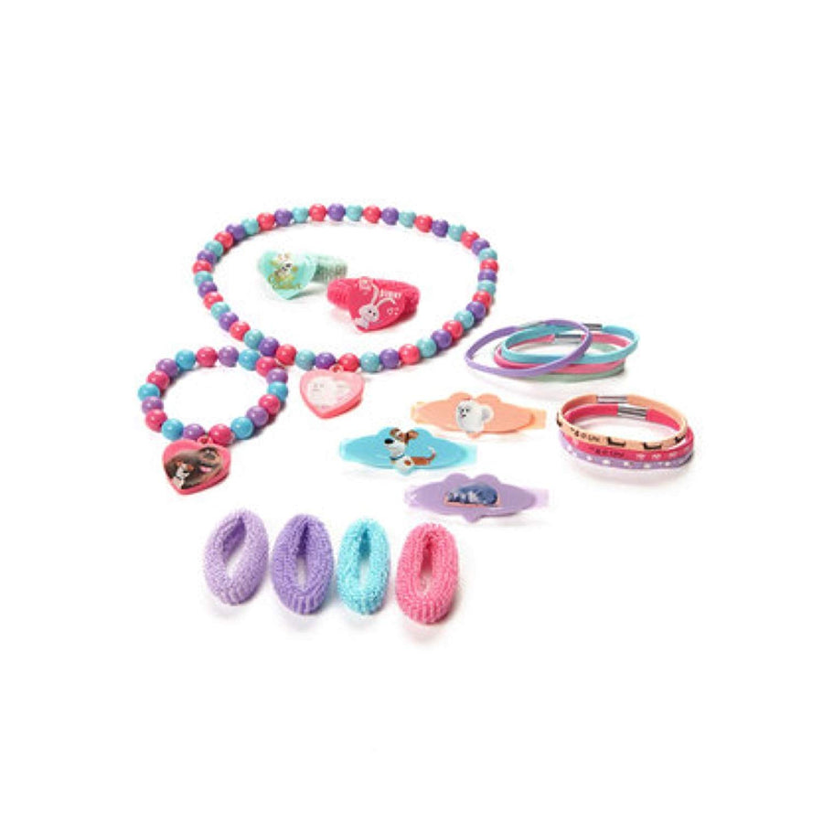 The Secret Life Of Pets 18 Piece Hair Accessory Set With Necklace and Bracelet