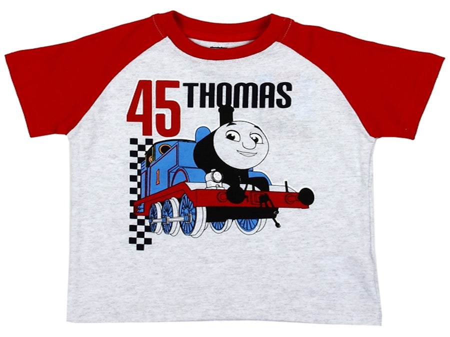 Thomas the Train Toddler Boys Short Sleeve T-Shirt size 2T-4T Gray/Red