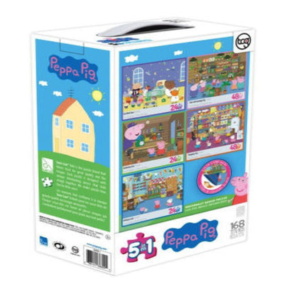 Peppa Pig 5 In 1 Puzzles - Three 24 Piece Puzzles & Two 48 Piece Puzzles