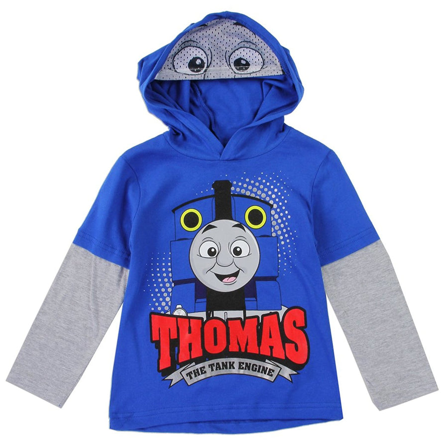 Thomas the Tank Engine Baby Boys Toddler Hooded T-Shirt, Blue, Sizes 12M & 18M