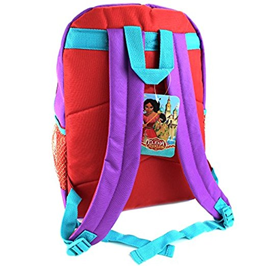 "Disney Princess Elena of Avalor 16"" Girls' Backpack, Purple/Red"