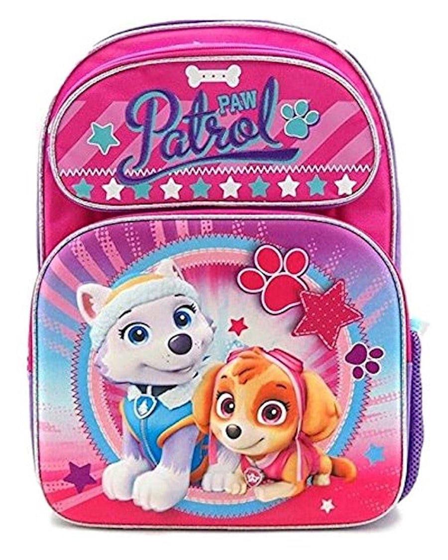 "Nickelodeon Girls' PAW Patrol Skye Everest Deluxe 3D 16"" Backpack Plus Matching 3D Lunch Bag, Pink"