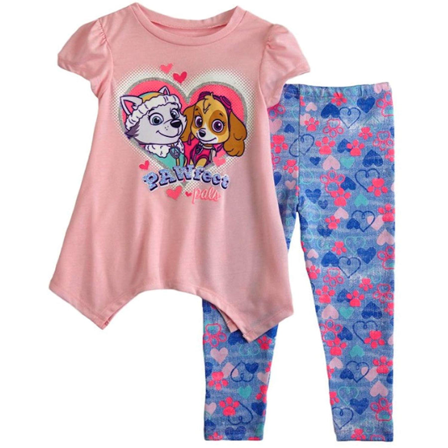 PAW Patrol Toddler Girls' 2-Piece Top & Legging Set, Sizes 2T, 3T & 4T