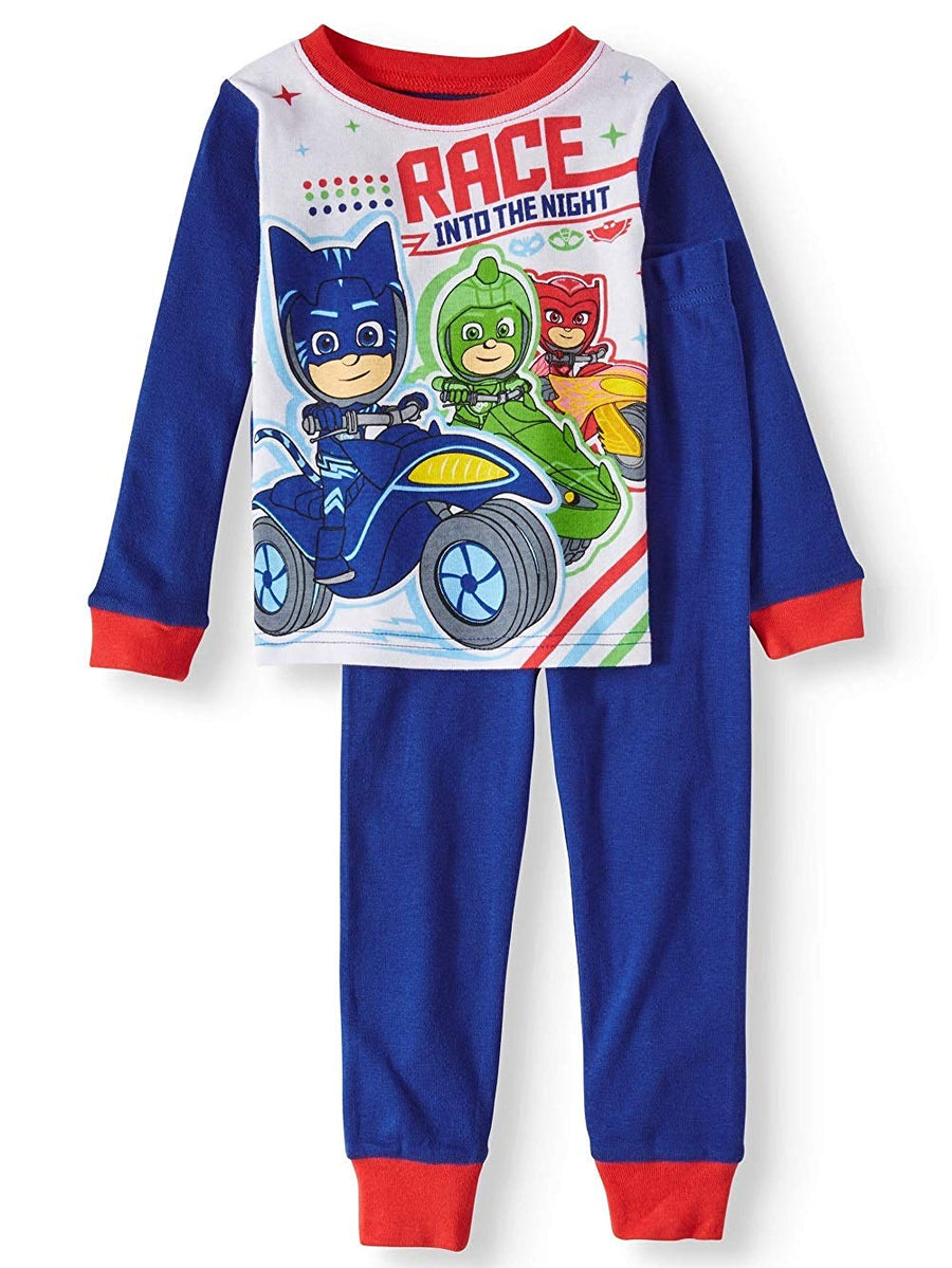 "PJ Masks Toddler Boys' 2-Piece ""Race Into The Night"" Sleepwear Pajama Set, Sizes 3T, 4T & 5T"
