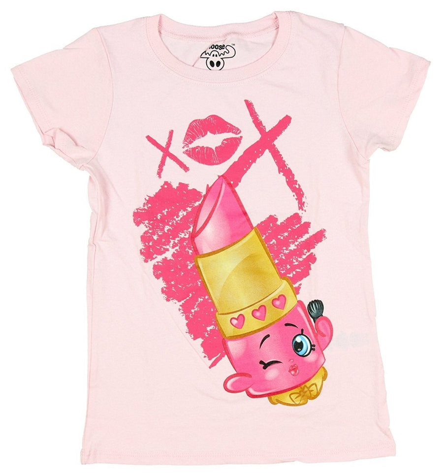Shopkins Little Girls T-Shirt Lippy Lips Size 4 Light Pink
