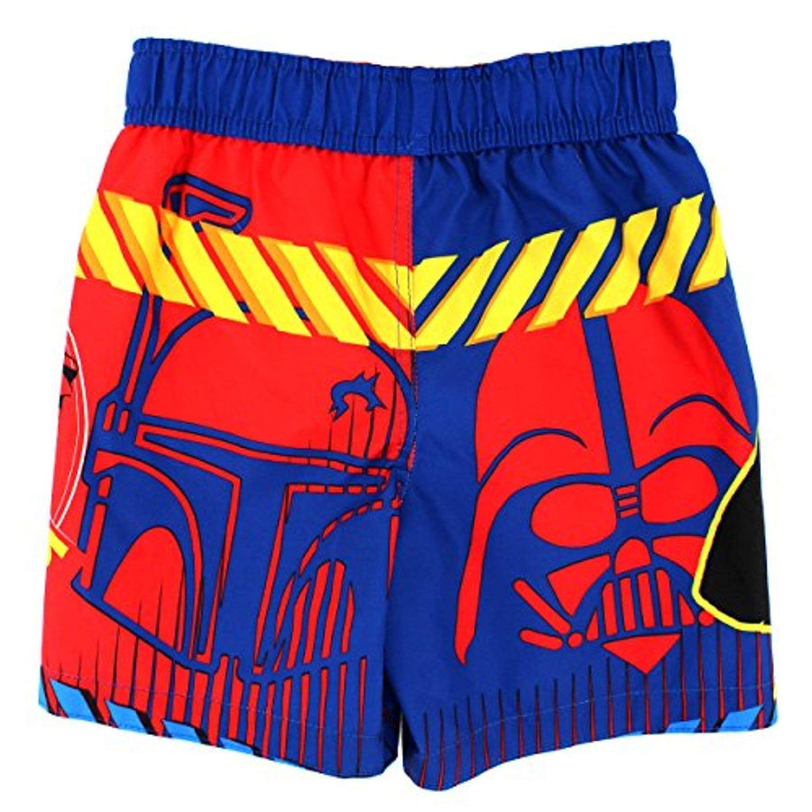 Star Wars Toddler Boys Swim Trunks Swimwear, Multi-colored, Sizes 3T & 4T