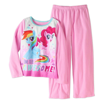 AME Girls My Little Pony Movie Fleece Pajamas, 7/8, Purple and Pink