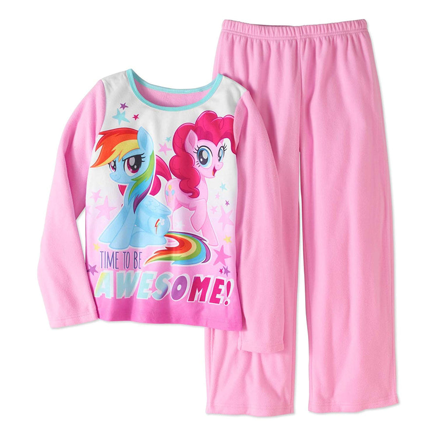 AME Girls My Little Pony Fleece Pajamas, 7/8, Purple and Pink