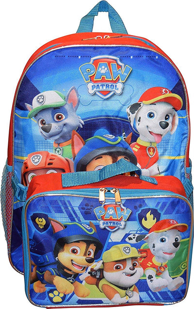 "Nickelodeon Boys' PAW Patrol 16"" Backpack With Detachable Matching Lunch Box"