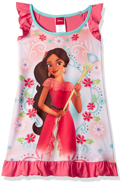 Disney Girls' Princess Elena of Avalor Nightgown Size 4, Coral