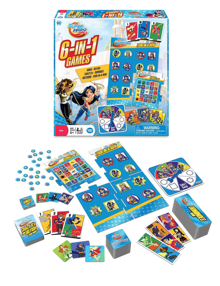 The Wonder Forge DC Super Hero Girls 6-in-1 Game