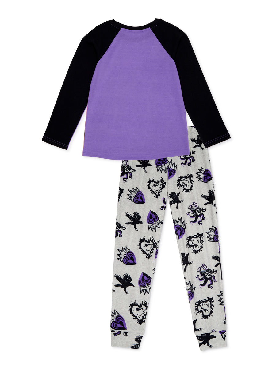 Descendants Girls' Pajama Long Sleeve 2-Piece Set, Sizes 6-12, Purple