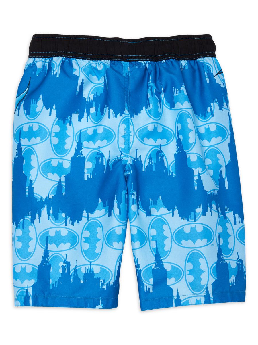 Batman Boys Swim Trunks with UPF 50+, Sizes 4-7