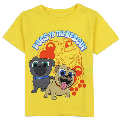 Disney Puppy Dog Pals Toddler Boys' T-Shirt In Yellow, Grey and Blue