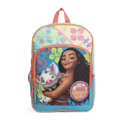 "Disney Moana Julius Pink Flower 16"" Backpack School Bag"
