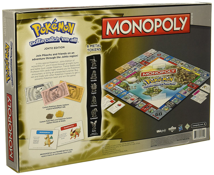 Monopoly Game: Pokémon Johto Edition