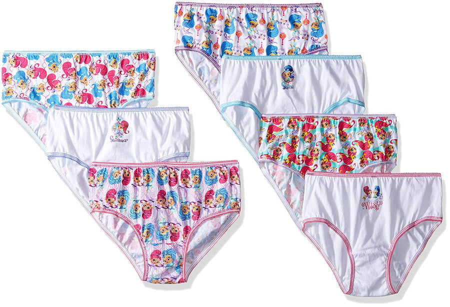Nickelodeon Shimmer and Shine Little Girls 7-pack Panties Underwear, Sizes 4 & 6