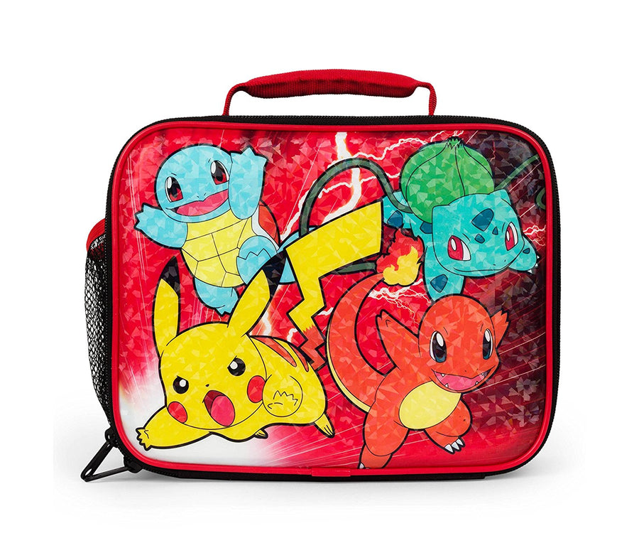 FABNY® Pokémon Insulated Lunch Bag For Boys or Girls, Red
