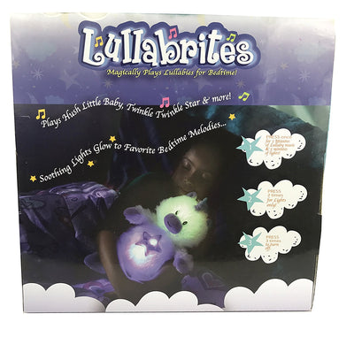 "Lullabrites 12"" Dog Lullaby Plush Toy Music and Lights"