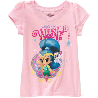Nickelodeon Little Girls' Shimmer and Shine Tee, Pink, Sizes 3T, 4T & 5