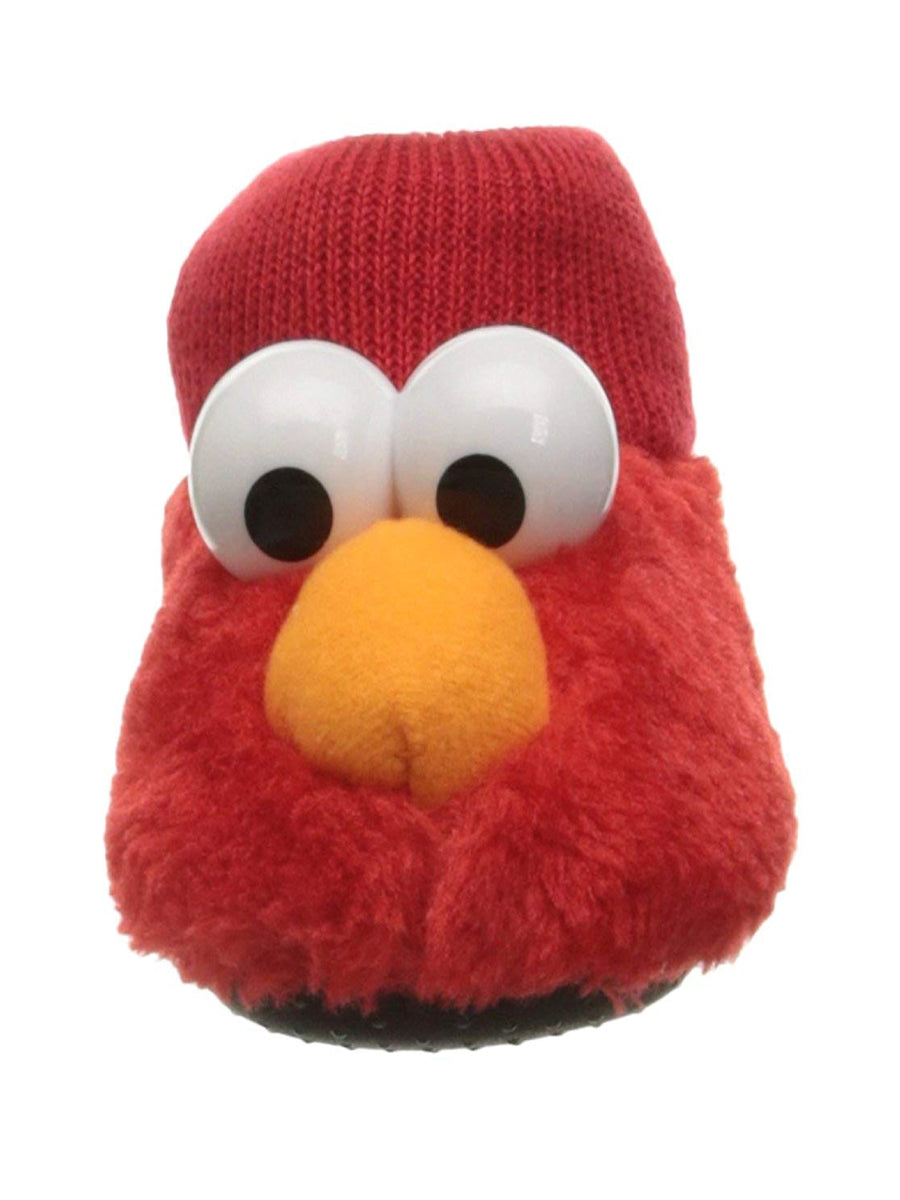 Sesame Street Baby Elmo Puppet Slipper, Red, Sizes XS, S, M, L