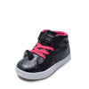 Girls' Unicorn Foil High Top Sneaker Shoe - Lace Free Hook n Loop Closure - Four Colors Rose Gold, Champagne, Black/Fuchsia and Silver/Pink - Toddler Sizes 5, 6, 7, 8, 9 and 10