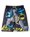 Batman Big Boys' Batman Logo Swim Trunks - Gray/Yellow/Blue