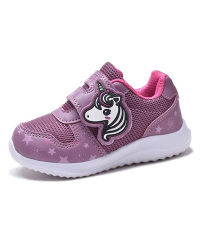 Girls' Toddler Sneaker Kids Shoes Tennis Shoe, Unicorn, Size 5-10, Berry, Silver or Pink