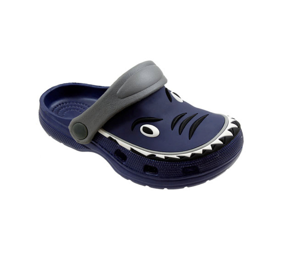 Spring Summer Toddler Boys' Shark Slingback Sandal Clogs For Beach, Pool or Everyday Wear - Assorted colors